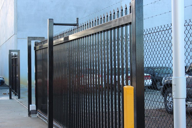 Powder Coated Steel Wrought Iron Metal House Gate Design