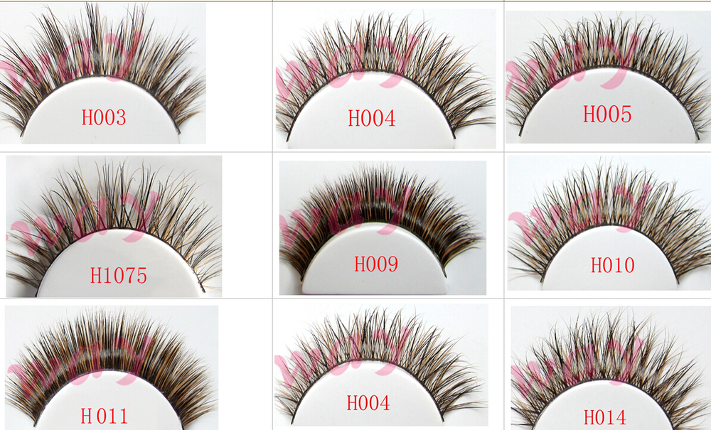 Premium quality wholesale false eyelashes 3D strip silk eyelash eye lashes