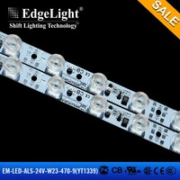 New design Aluminum lamp body edgelit strips rigid led light bar with super bright lens