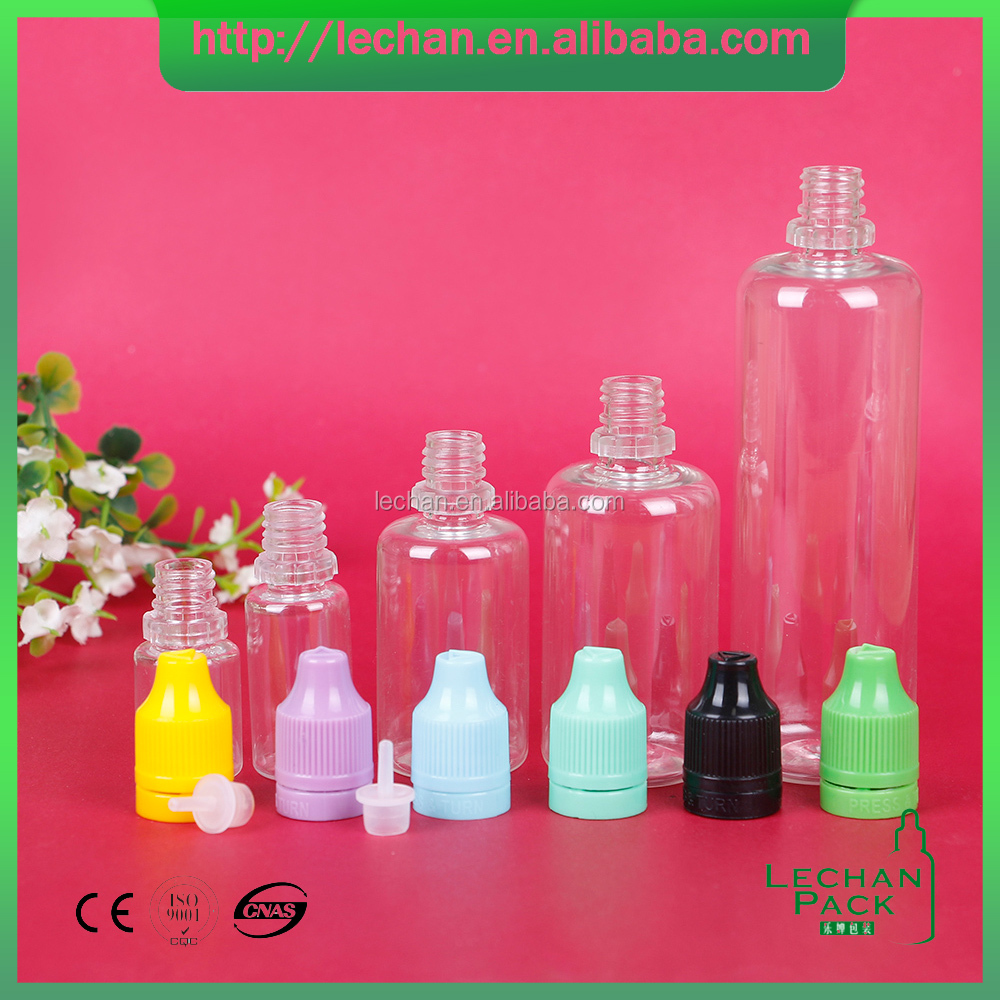 Free samples! 5ml,10ml,30ml PET clear plastic dropper bottle with child proof cap for ego oil, e-liquid, e-cigarette oil/'small
