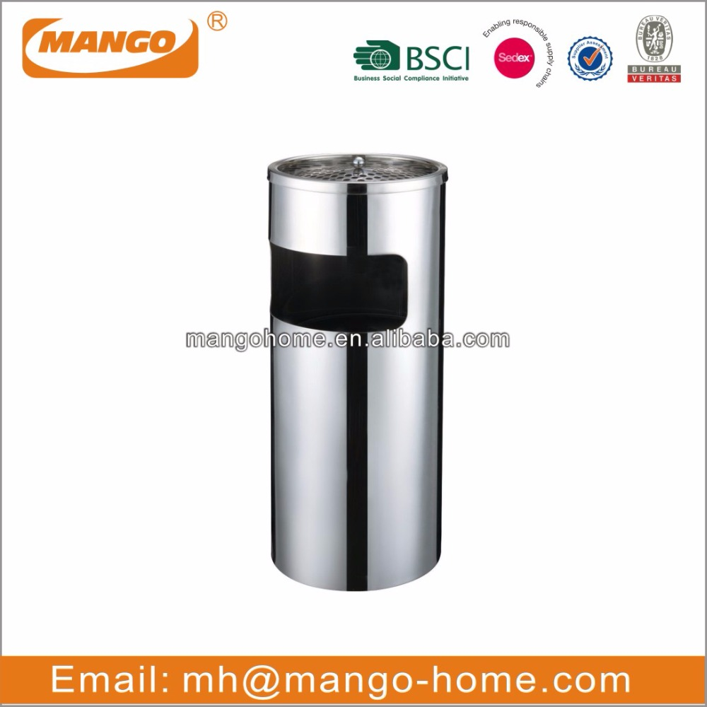 Standing Hotel stainless steel ashtray bin