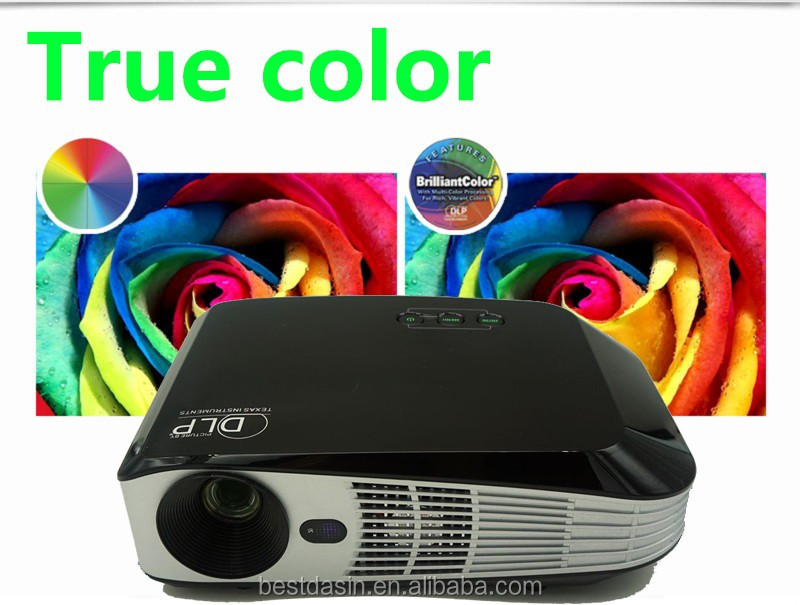 lowest price mini led projector /Bluetooth/Flash/USB 2.0 with up to 4K 2160p / 4.0/11.1/2.0 mini projector for smartphones