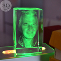 LED lights person photo 3d laser engraving crystal cube