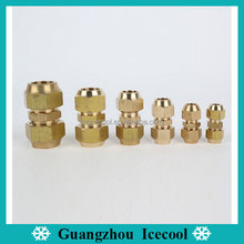 High quality Brass double flare union/Copper Speedfit brass fitting with nuts from 1/4'' 3/8'' 1/2'' 5/8'' 3/4'' 7/8'' 1''