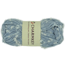 Charmkey new shape like gold or sliver ingot nylon polyester wool yarn with textile yarn for hand knitting yarn stock lot