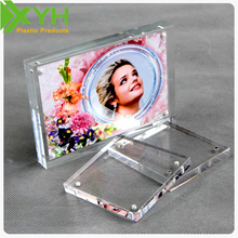 "Clear Acrylic Magnetic Photo Frame Size 5"" 6"" 7"" 8"" Desk Picture Frames"