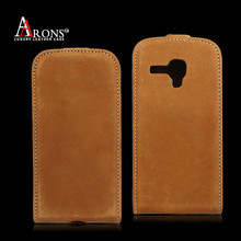 Leather flip phone cover case for samsung galaxy ace 2 i8160