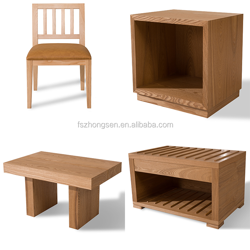 Images of Bedroom Set of Hotel Furniture in Plywood with Ash Timber