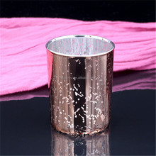 elextroplate romatic luxury rose gold scented candle holders for resturant