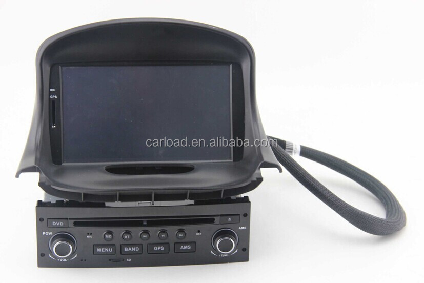 Car audio system for peugeot 206 car dvd player car gps navigaiton system
