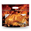 Resealable microwaveable rotisserie roast chicken bags with vent hole