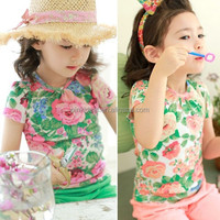 Pinkideal South Korea girls with big flower printed cotton sweater coat