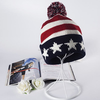 Country flag jacquard wholesale knitting beanie hat