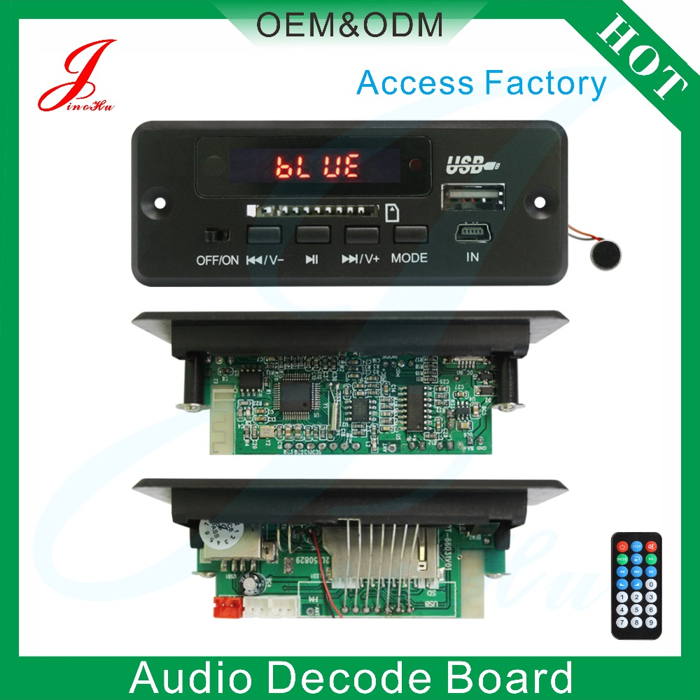 Professional manufacturer fm bluetooth mp3 decoder for car audio player system