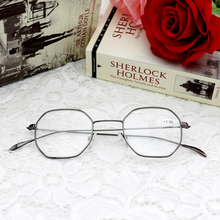 2017 fashion stainless steel round glasses metal reading glasses