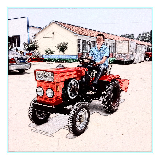 2013 hot sale mini garden tractor with good tractor part