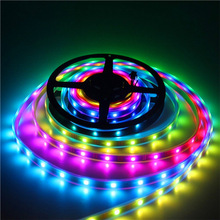 1LED/Cut Addressable LED Pixel Light DC5V Digital 5050RGB LED Strips High Bright 6812/2812 60Pixel/m LED Strips
