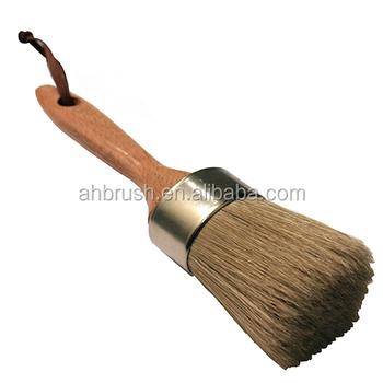 Wooden handle 40mm wax brushes with natural bristle from china
