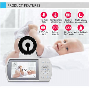 2019 new video baby monitor with interchangeable lens for newborns infant PETs with FHSS digital wireless transmission