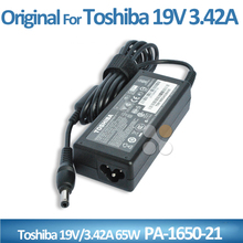 New original laptop ac adapter 19V 3.42A 65W for Toshiba PA-1650-21