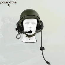 Military Combat Vehicle Crewman Tank Helmet Headset DH-132 for Armor Forces PTE-747