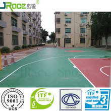 gymnasium construction used elastic buffer outdoor basketball court rubber floor