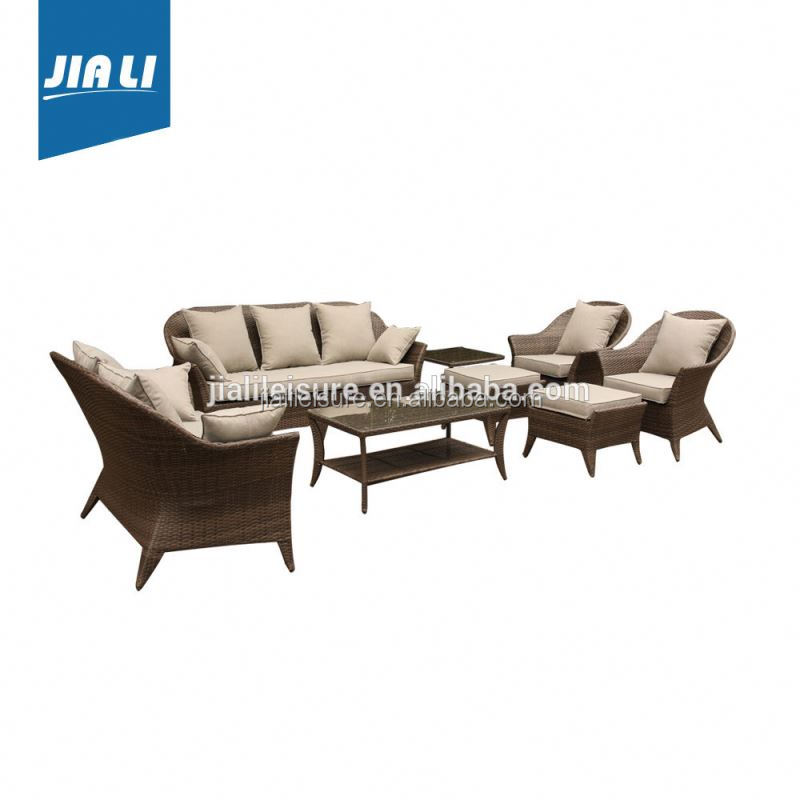 Fully stocked factory directly outdoor furniture rattan sofa