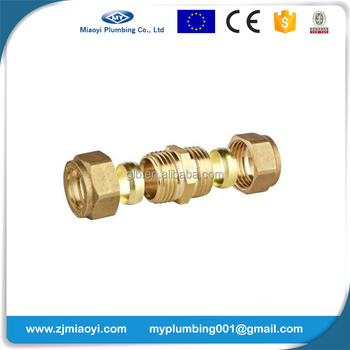 Brass Compression Fittings EN1254 - Straight Coupler