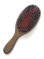 Wooden paddle nylon&bristle cushion hair brush