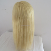Qingdao china factory to make #613 smooth straight lace virgin brazilian human hair lace front wig for black women