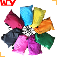 2016 new arrival 100% nylon or polyseter material convenient inflatable lounger sofa bed hangout air sleeping bag air sofa