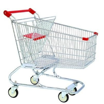 hand supermarket shopping trolley