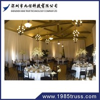 Adjustable pipe and drape,wedding backdrop, round wedding pipe and drape