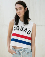 Fashion women sleeveless slim t shirt wholesale china o neck sexy short striped t shirt online shop