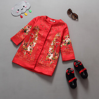 European style toddler girls clothes jacquard coat autumn princess clothes fashion outwear for kids