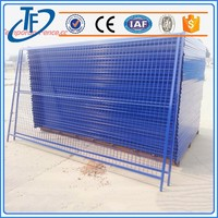 ISO9001 powder coating mobile temporary fence and indoor security fence