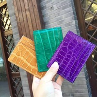 Luxury genine real crocodile skin leather credit card holder croco card holder slim wallet
