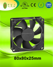 "12v dc cooling fans 80x80x25mm 3600rpm computer fans 3.15""x3.15""x1"" UL CE certificate cooling fan"