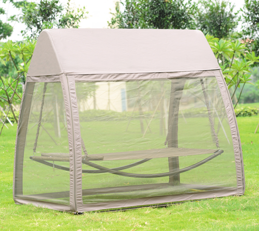Cheap Outdoor Garden Used Canopy Swing Bed With Mosquito Net