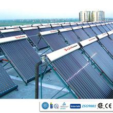 High quality black chrome and anode coating fin flat plate solar collector/solar project /solar system