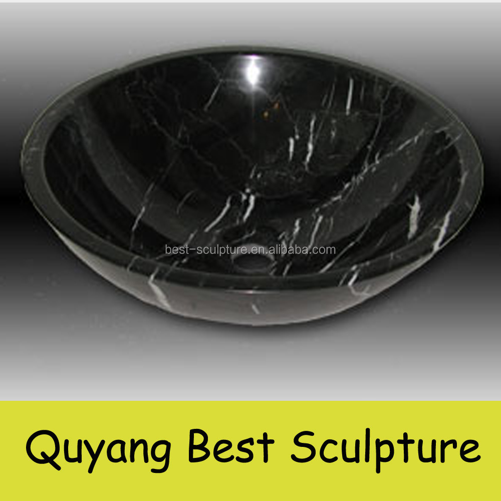 customized black marble bathroom sinks for sale