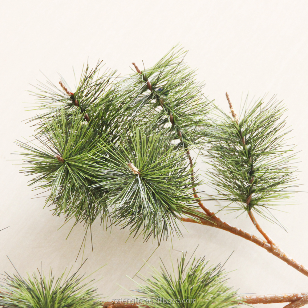 factory wholesale artificial pine branches cheap plastic artificial pine tree branch