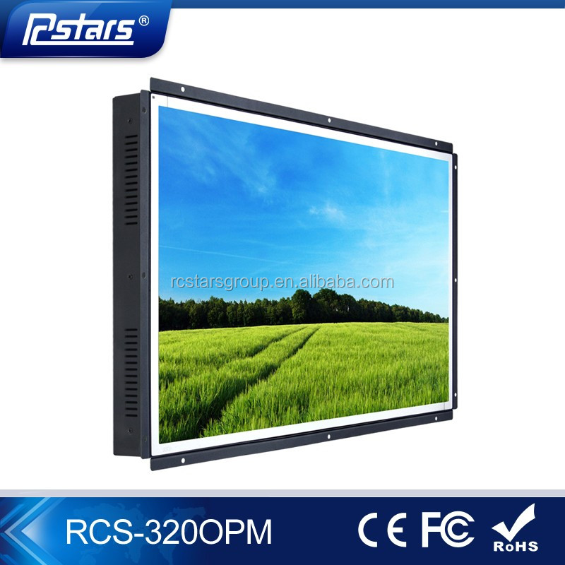 32 inch public view lcd monitor with open frame