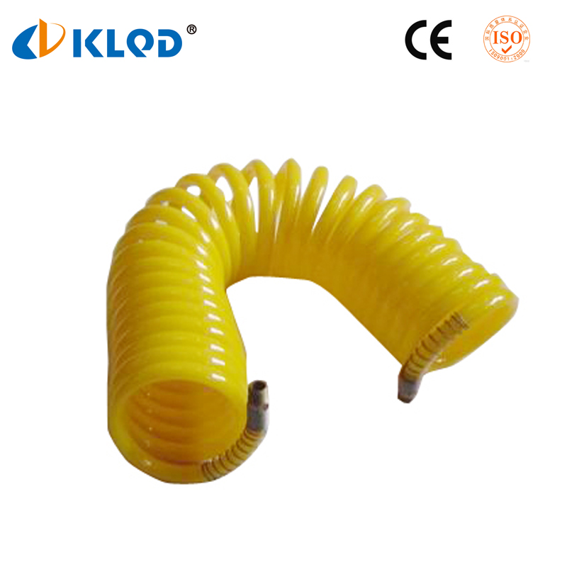 Low price high quality 16mm blue black color pneumatic pu spring coil hose