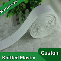Eco-friendly White Spandex Nylon Knitting Elastic Tape