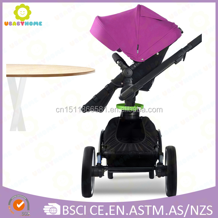 2016 Newest Luxury with Aluminum tube and 360 degree seat rotating stroller,EN-1888 test high quality stroller
