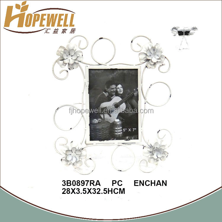 Wholesale flower metal frame photo antique for wall picture