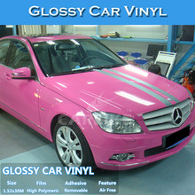 Fast Shipment Air Free High Flexible PVC Pink Auto Glossy Paper