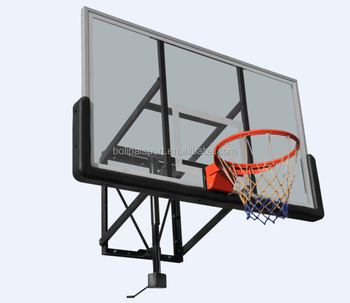 China Good Quality Wall Mounting Tempered Glass Basketball Backboard System
