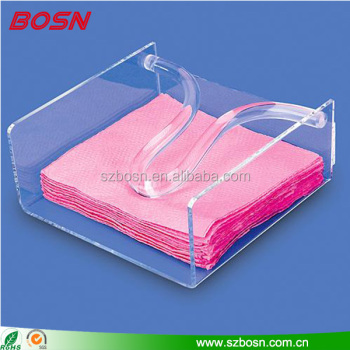 manufactory custom clear acrylic napkin holder plexiglass counter accessories
